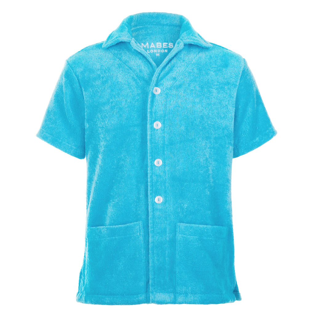 MABES Terry Towel Shirt (Azure)