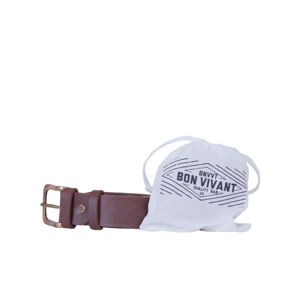 BON VIVANT - Staple Belt (Dark Brown)