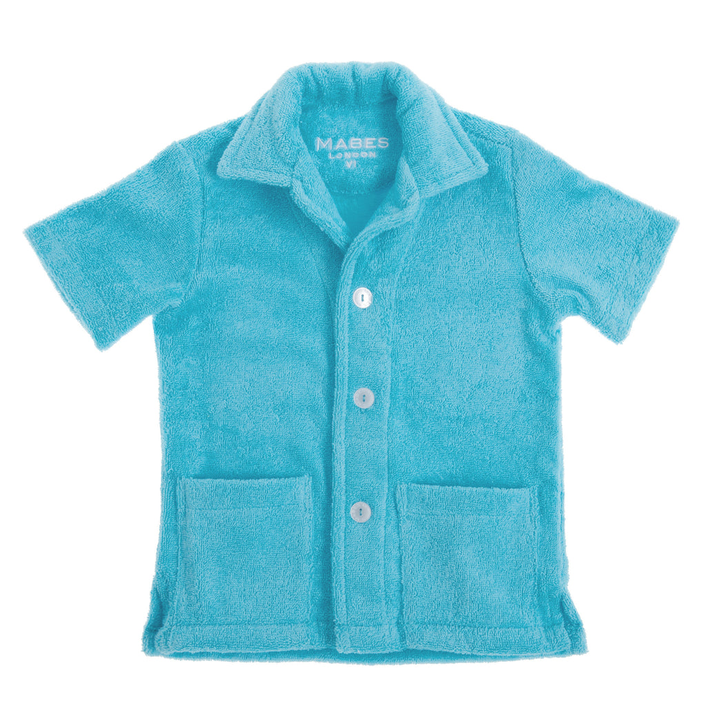MABES Junior Terry Towel Shirt (Azure)