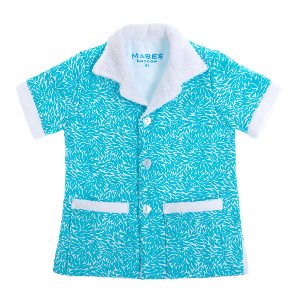 MABES Junior Terry Towel Shirt (Blue Lagoon)