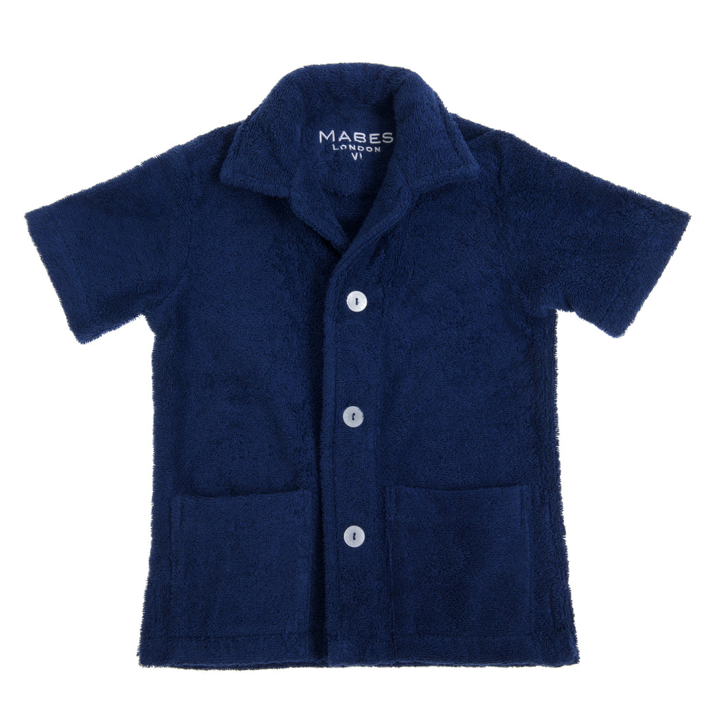 MABES Junior Classic Terry Towel Shirt (Navy)