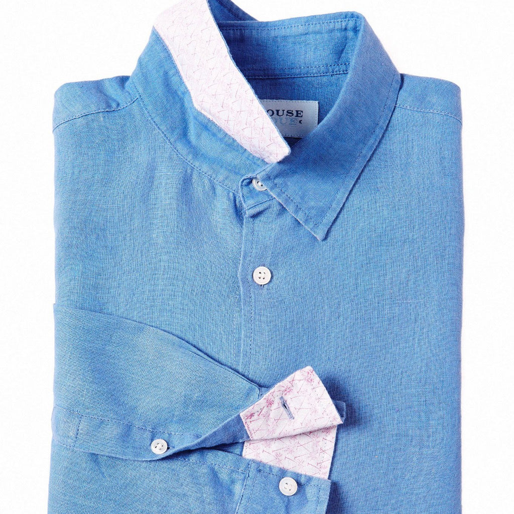 PINK HOUSE MUSTIQUE - Linen Shirt (French Blue)
