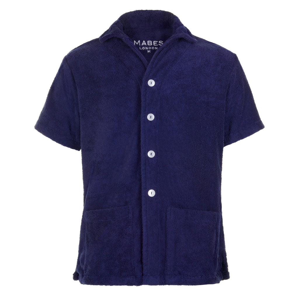 MABES Terry Towel Shirt Navy