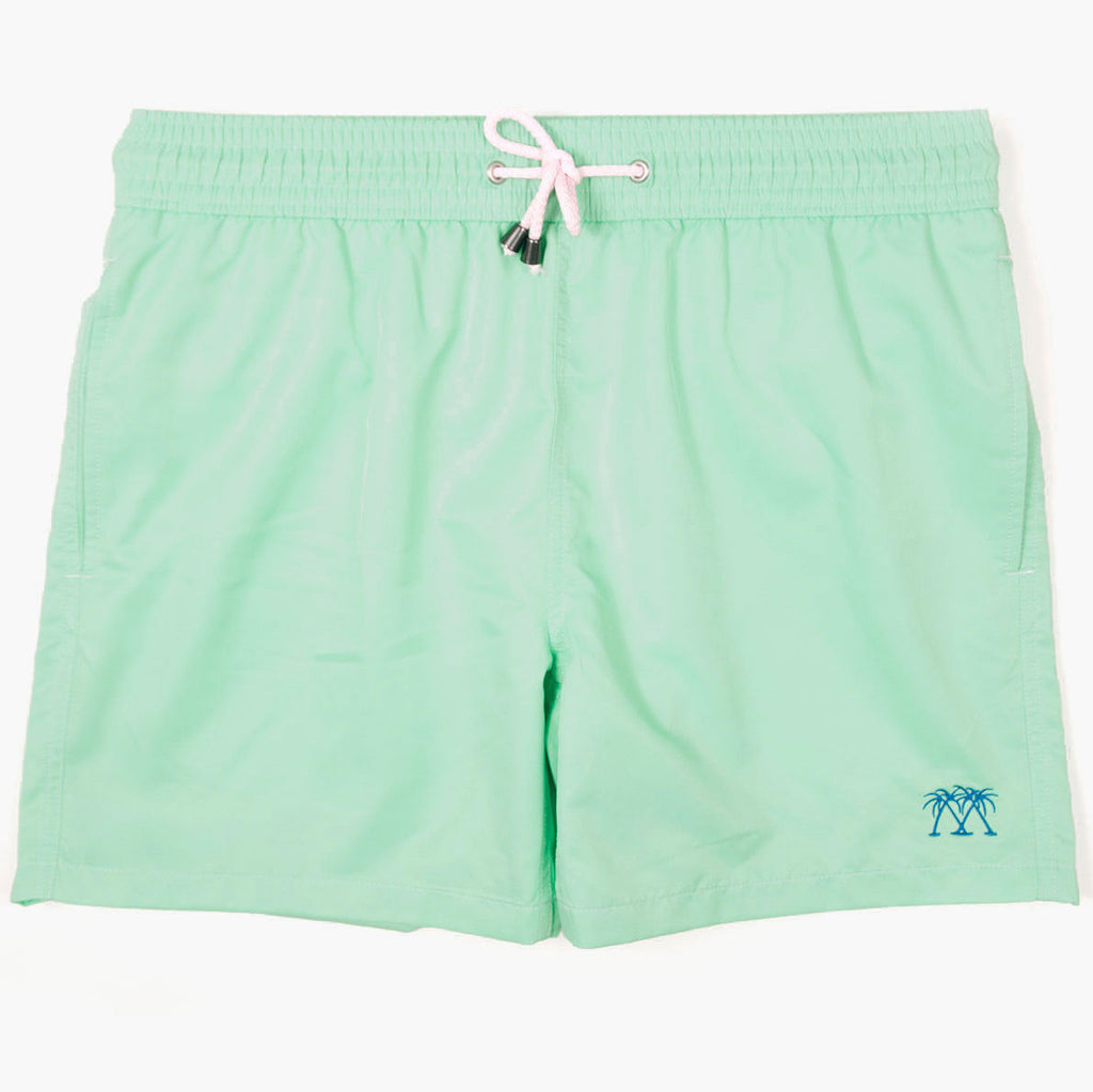 Pink House Mustique Beach Shorts Plain Green