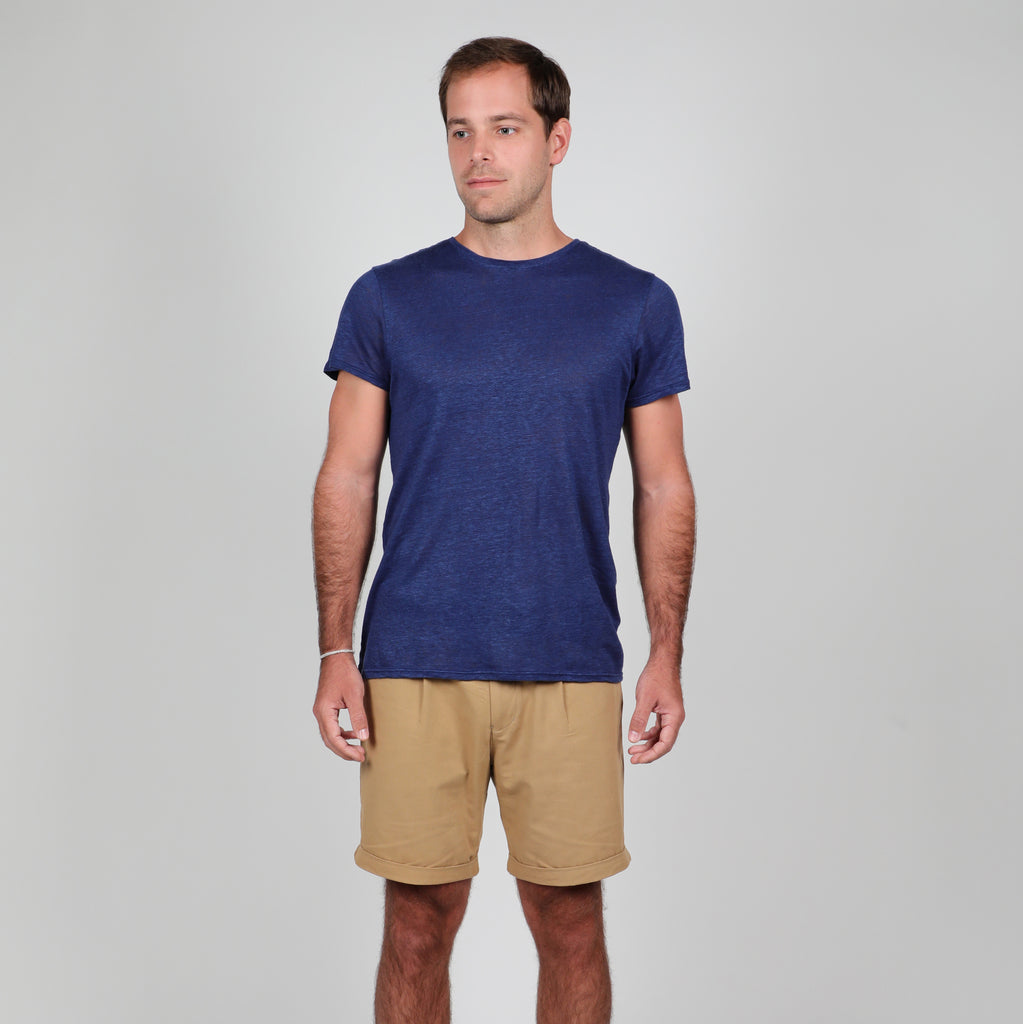 Ashenfeld - Original Ramie T-Shirt (Navy)