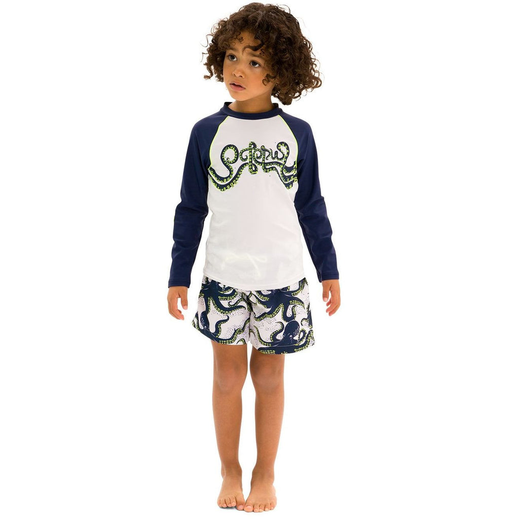 SUNUVA Boys Octopus Rash Vest