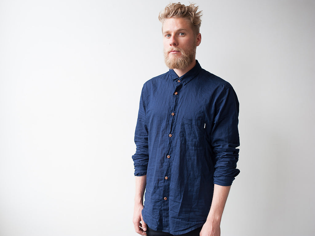 FLUX Inbetween Days Long-Sleeve Shirt (Indigo)