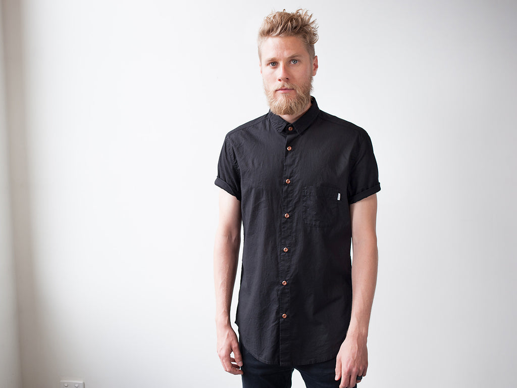 FLUX Inbetween Days Short-Sleeve Shirt (Indigo)