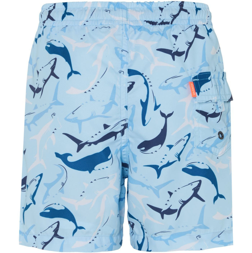 SUNUVA Boys Aqua Shark Swim Shorts