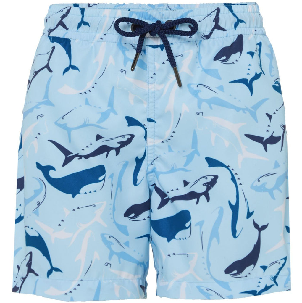 SUNUVA Boys Aqua Shark Swimshorts