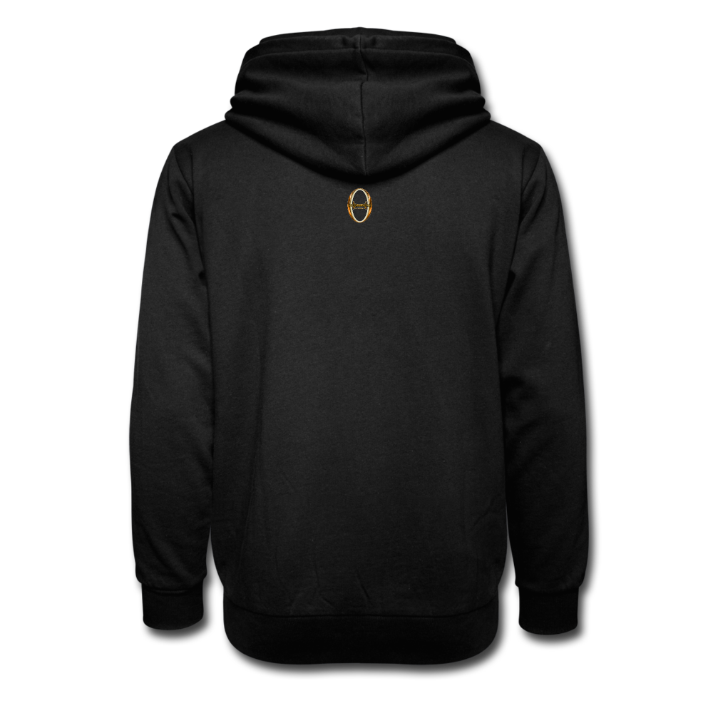 Be Inspiration Shawl Collar Hoodie - black
