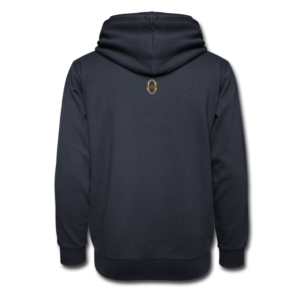 Be Inspiration Shawl Collar Hoodie - navy