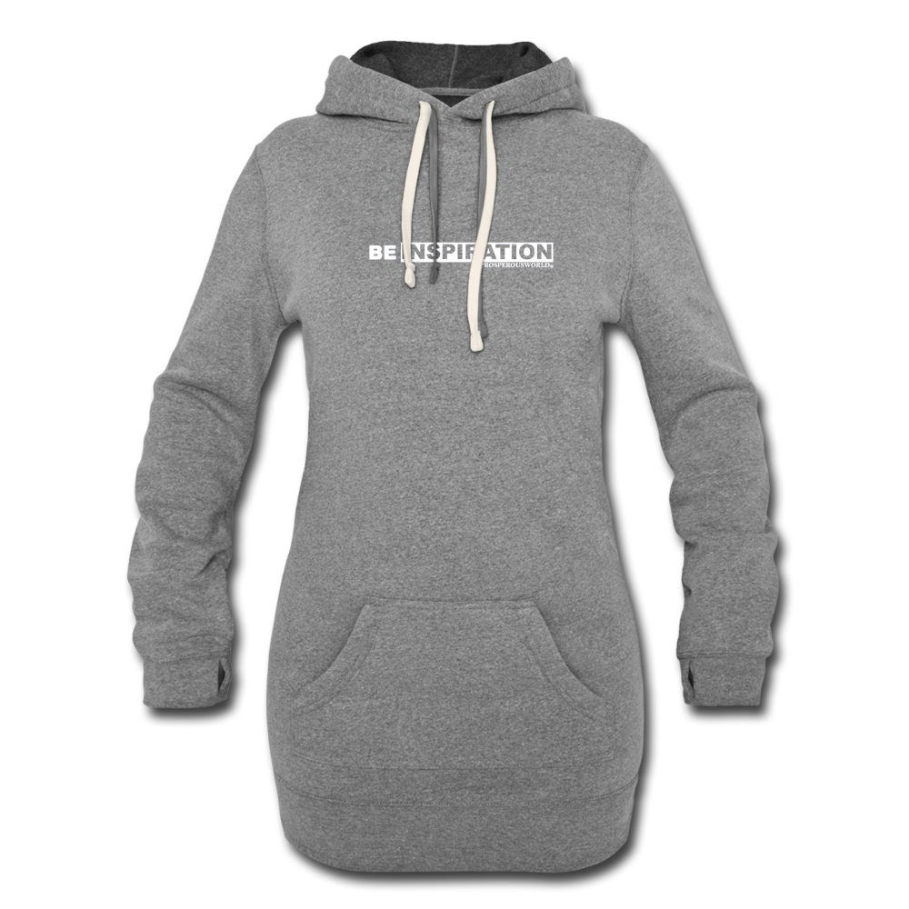 Be Inspiration Women's Hoodie Dress - heather gray