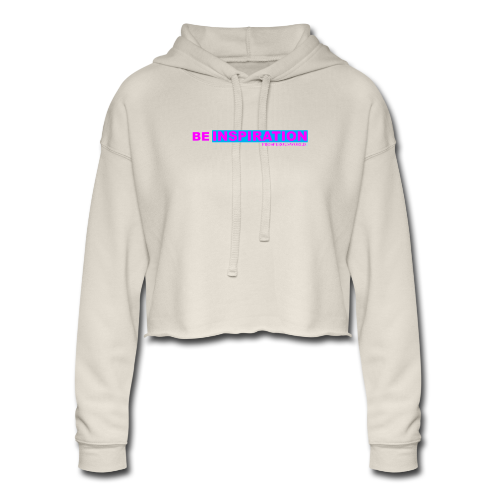Women's Be Inspiration Cropped Hoodie - dust
