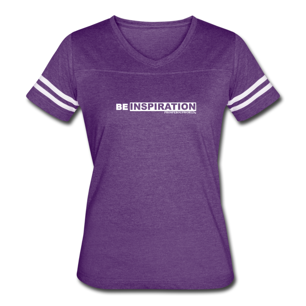 Women's Be Inspiration Vintage Sport T-Shirt - vintage purple/white