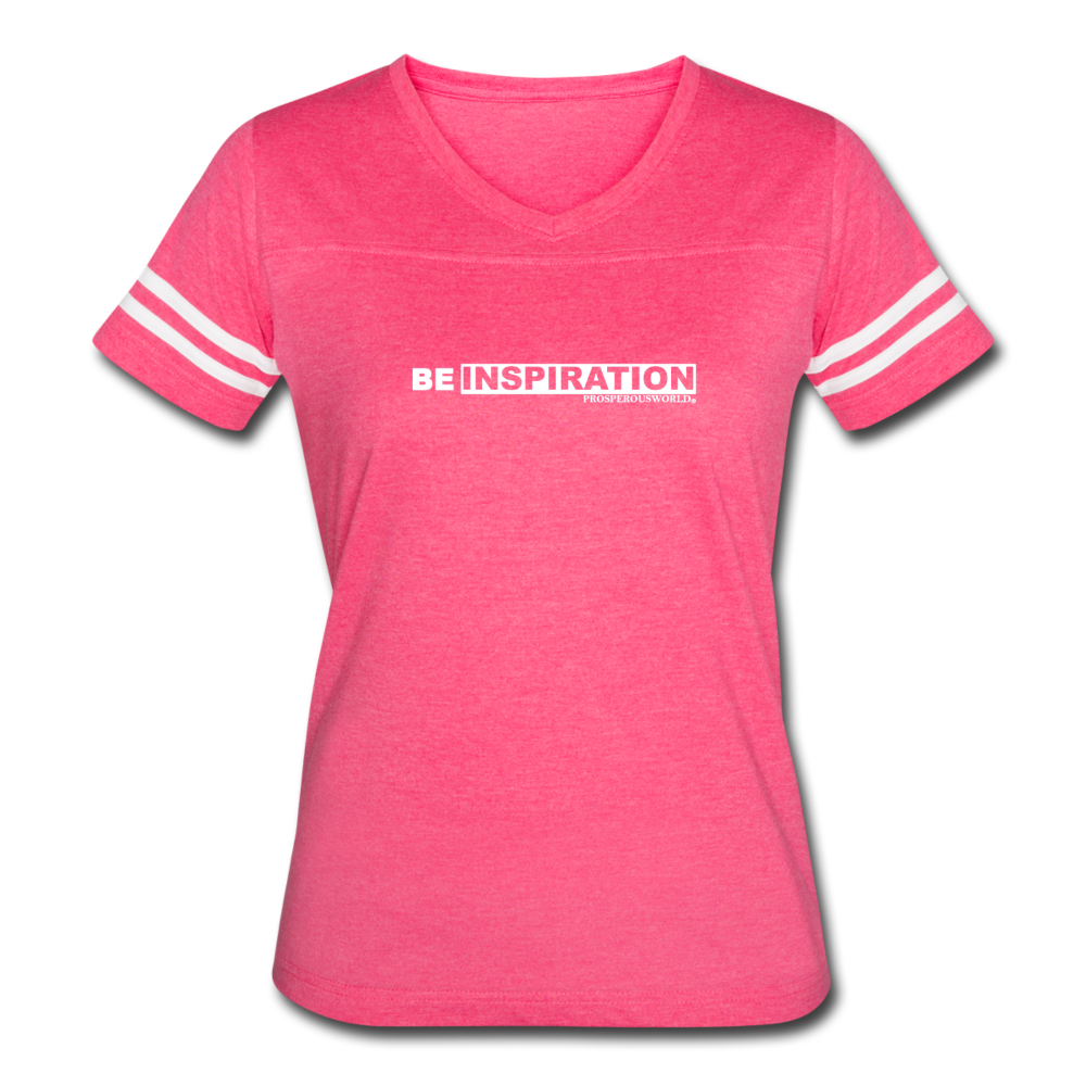 Women's Be Inspiration Vintage Sport T-Shirt - vintage pink/white