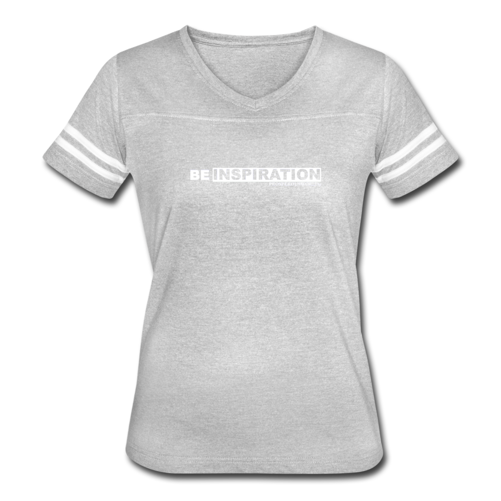 Women's Be Inspiration Vintage Sport T-Shirt - heather gray/white