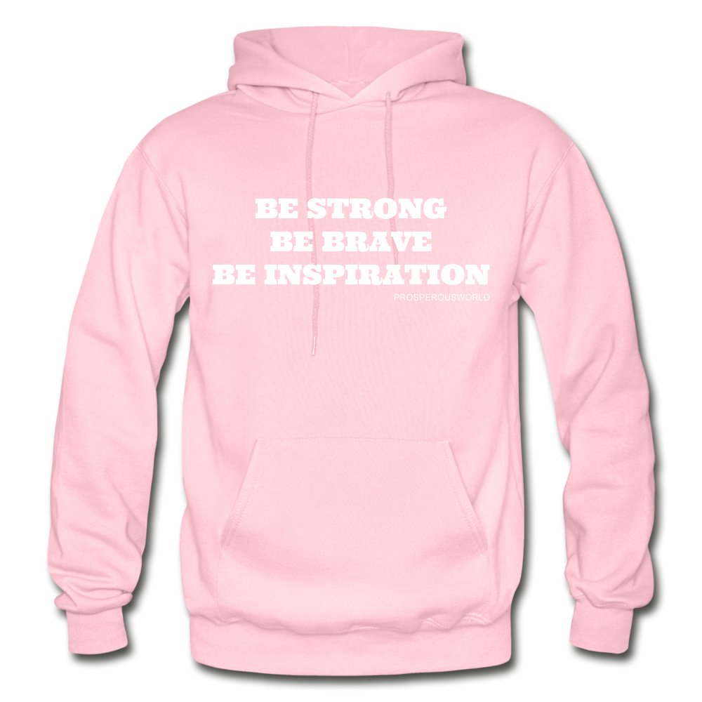 Be Inspiraton unsex Hoodie - light pink