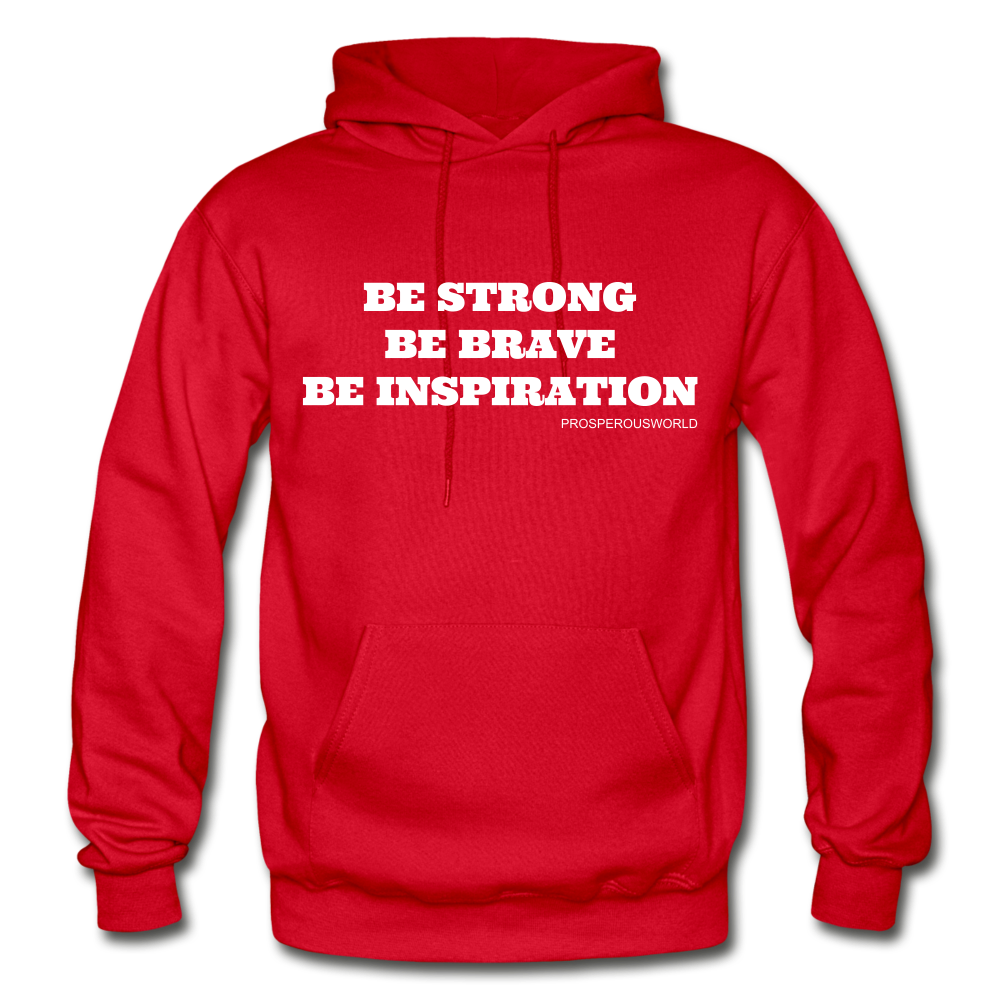 Be Inspiraton unsex Hoodie - red