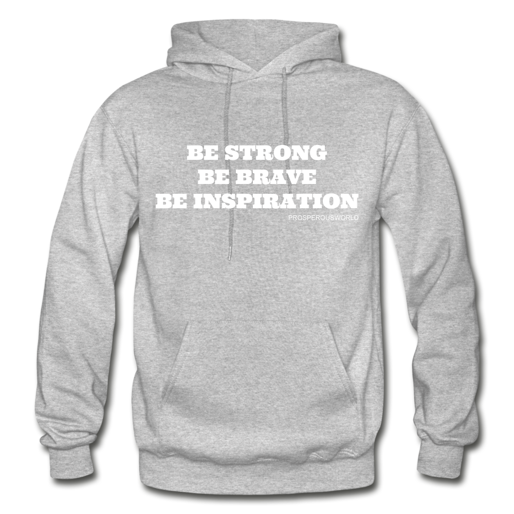 Be Inspiraton unsex Hoodie - heather gray