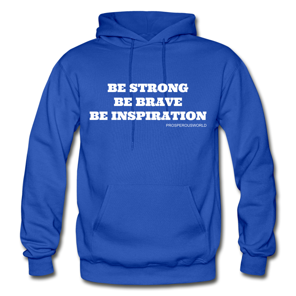 Be Inspiraton unsex Hoodie - royal blue