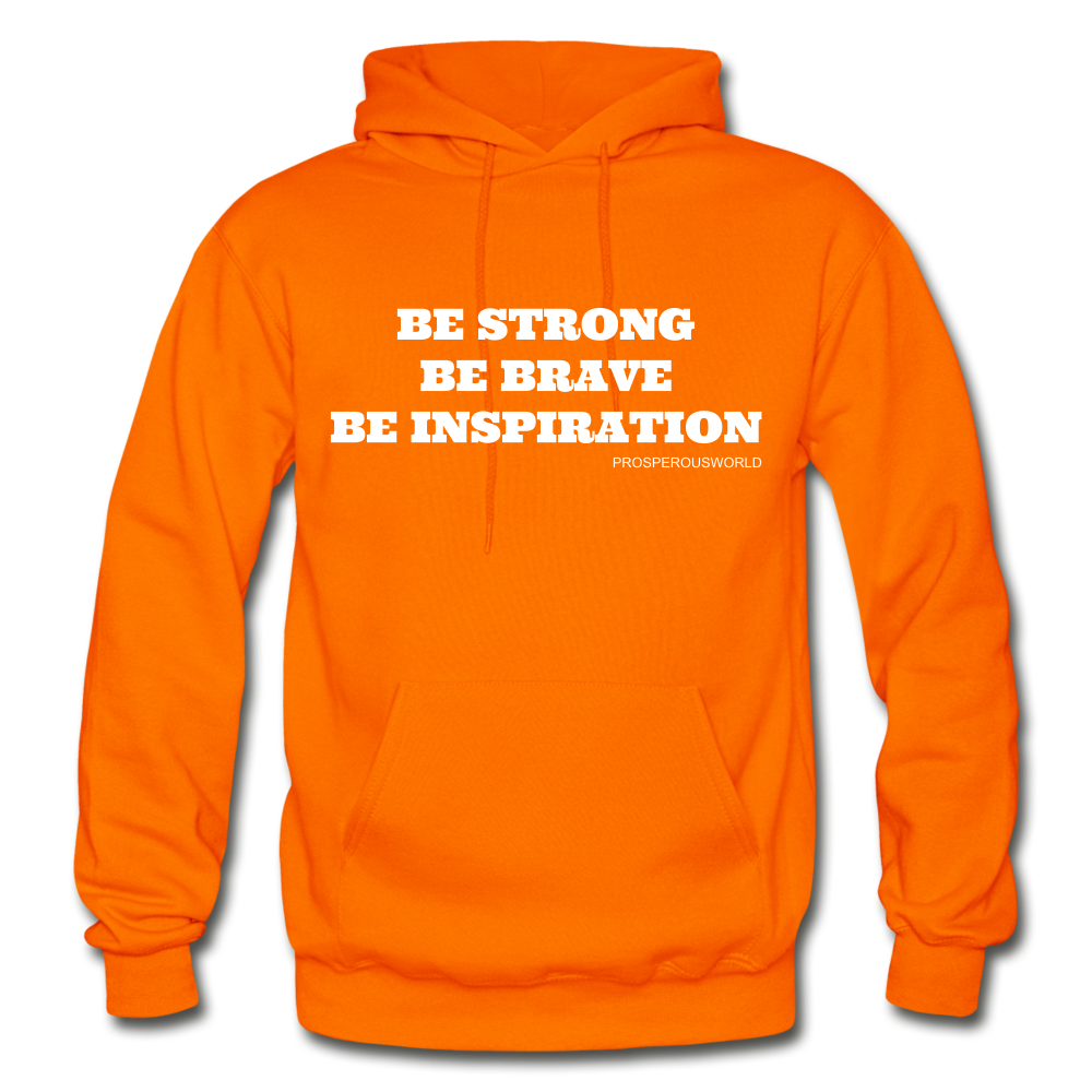 Be Inspiraton unsex Hoodie - orange