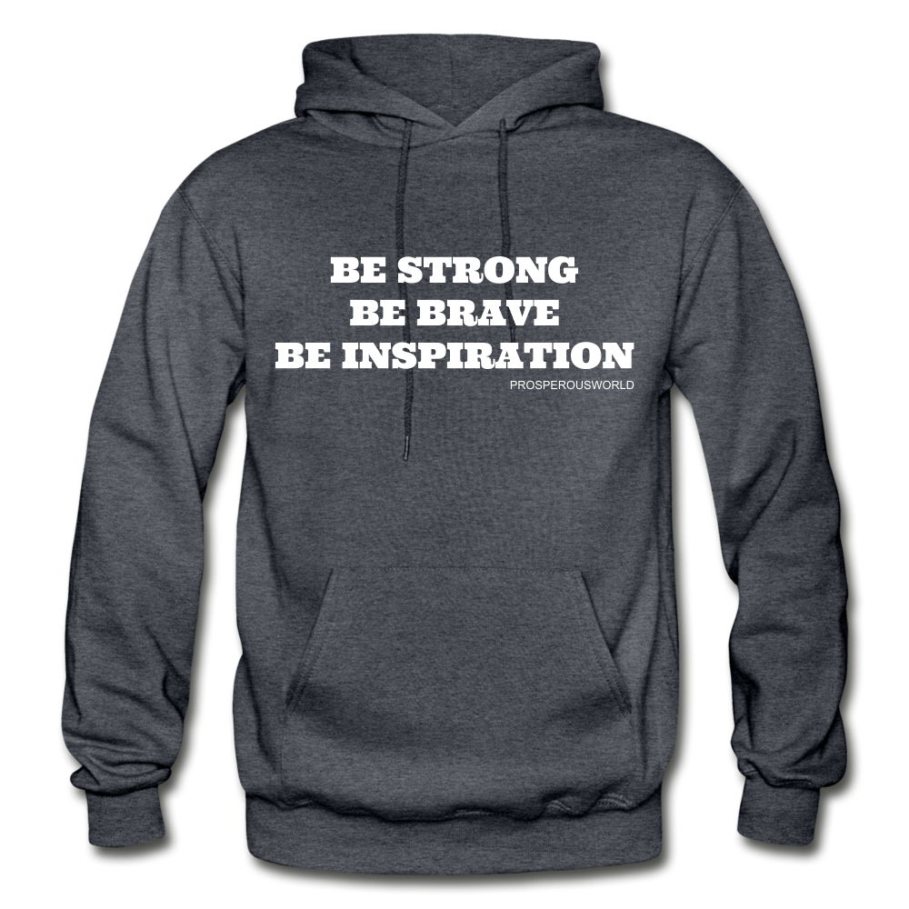 Be Inspiraton unsex Hoodie - charcoal gray
