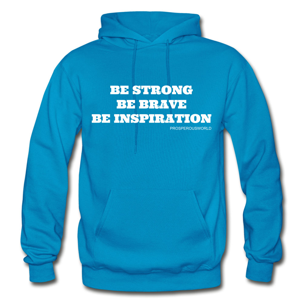 Be Inspiraton unsex Hoodie - turquoise