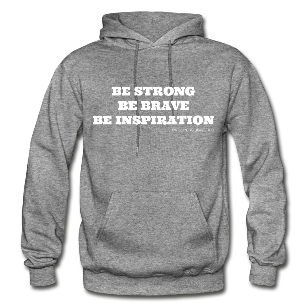 Be Inspiraton unsex Hoodie - graphite heather