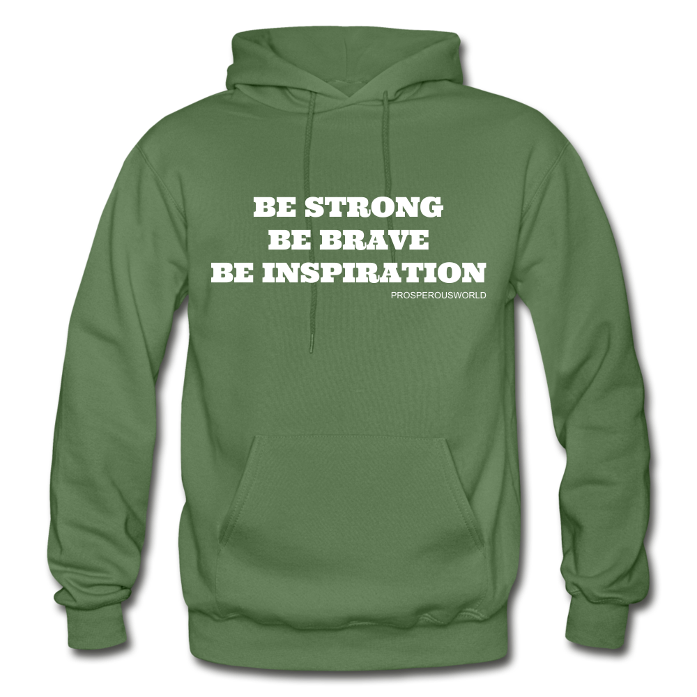 Be Inspiraton unsex Hoodie - military green