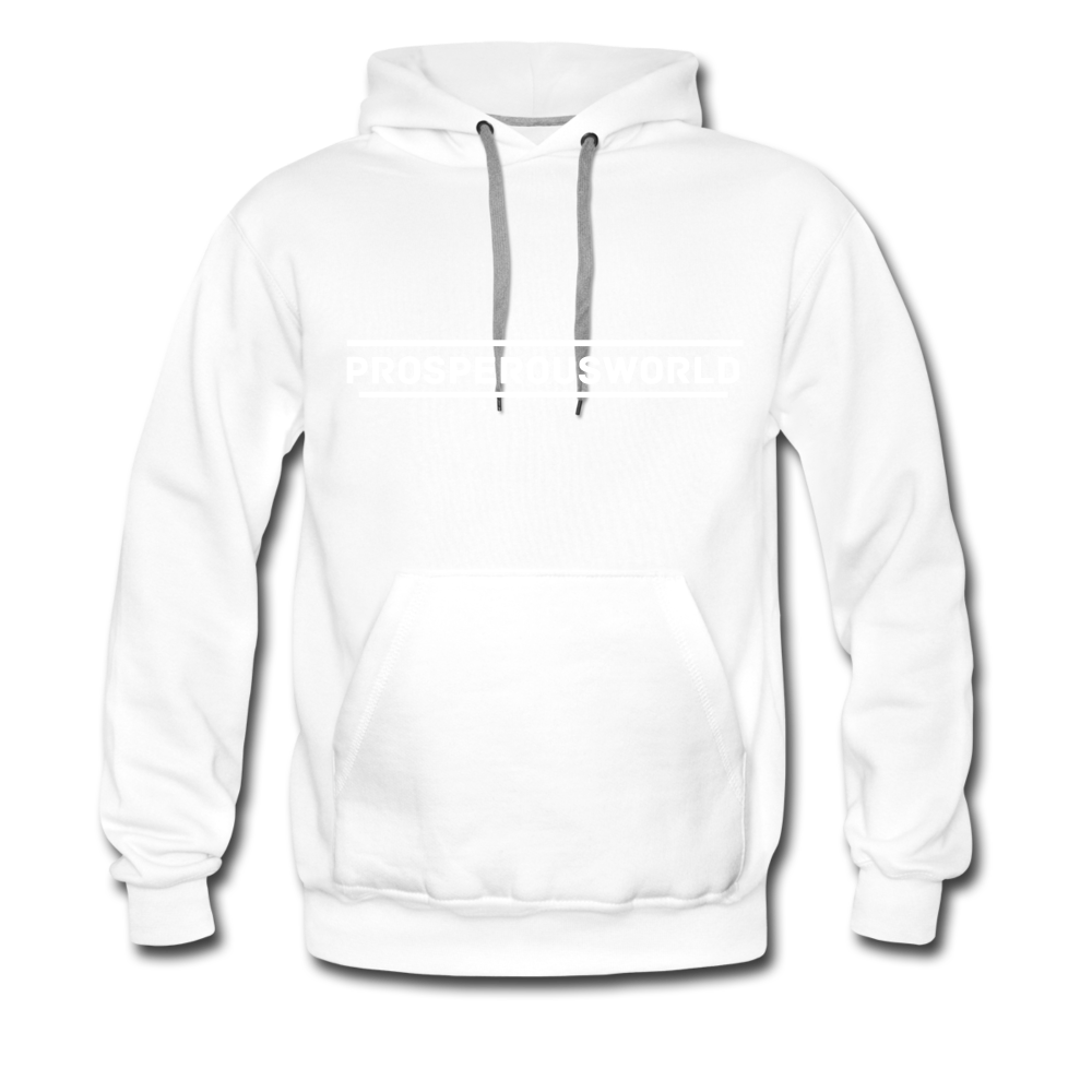 ProsperousWorld Men's Premium Hoodie - white