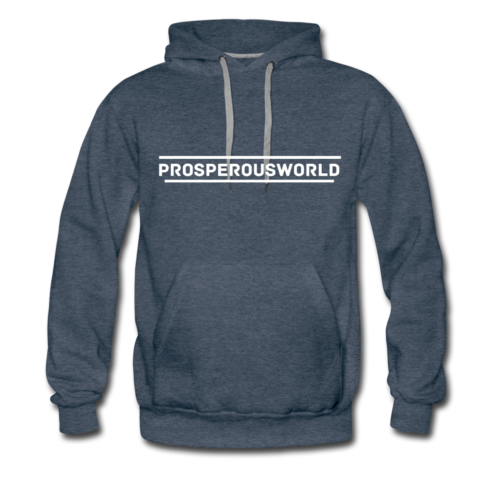 ProsperousWorld Men's Premium Hoodie - heather denim