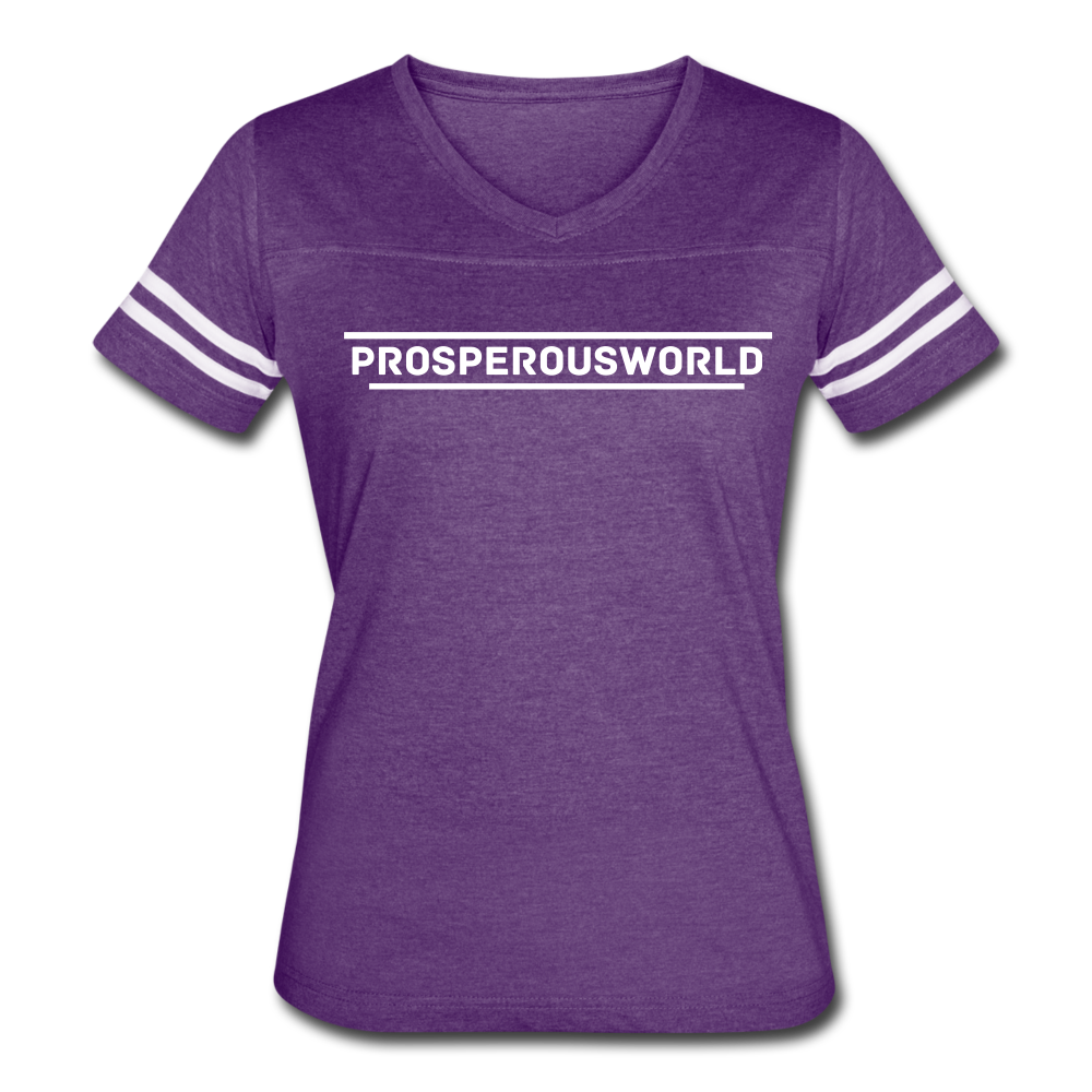 ProsperousWorld Women's Vintage Sport T-Shirt - vintage purple/white