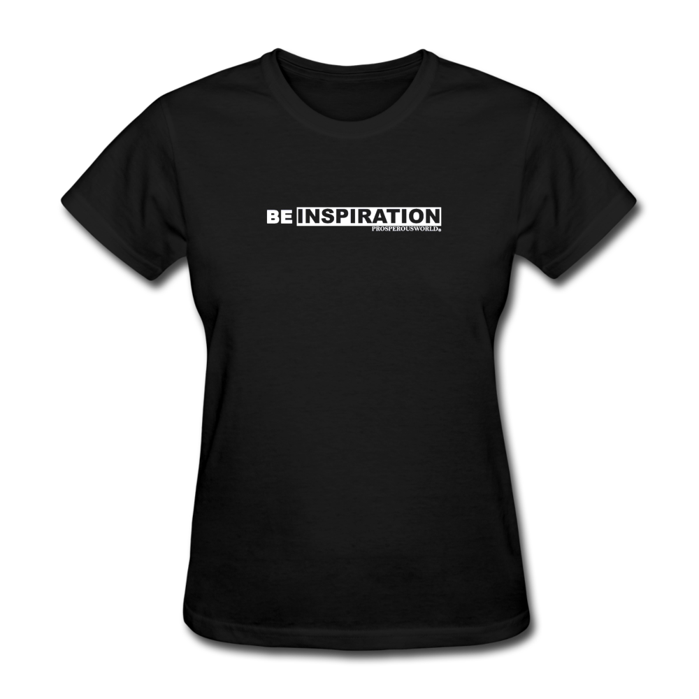 Be Inspiration womens tee - black