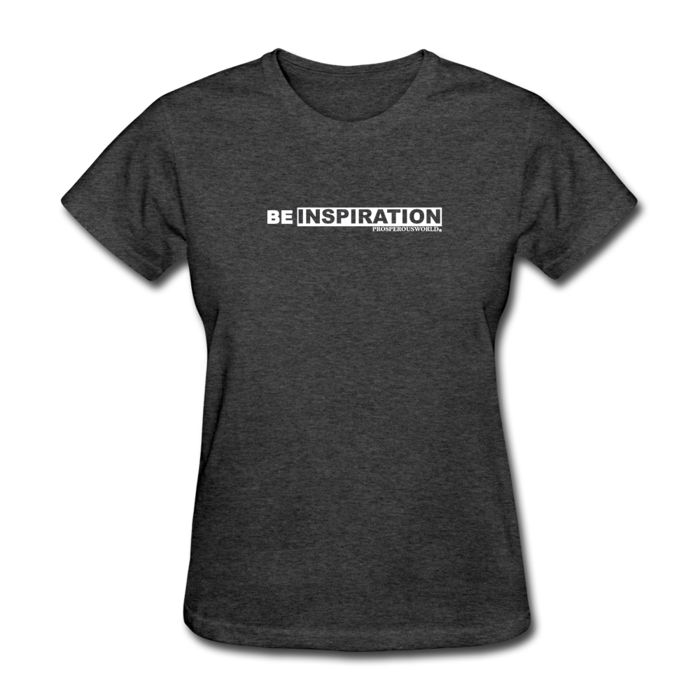 Be Inspiration womens tee - heather black