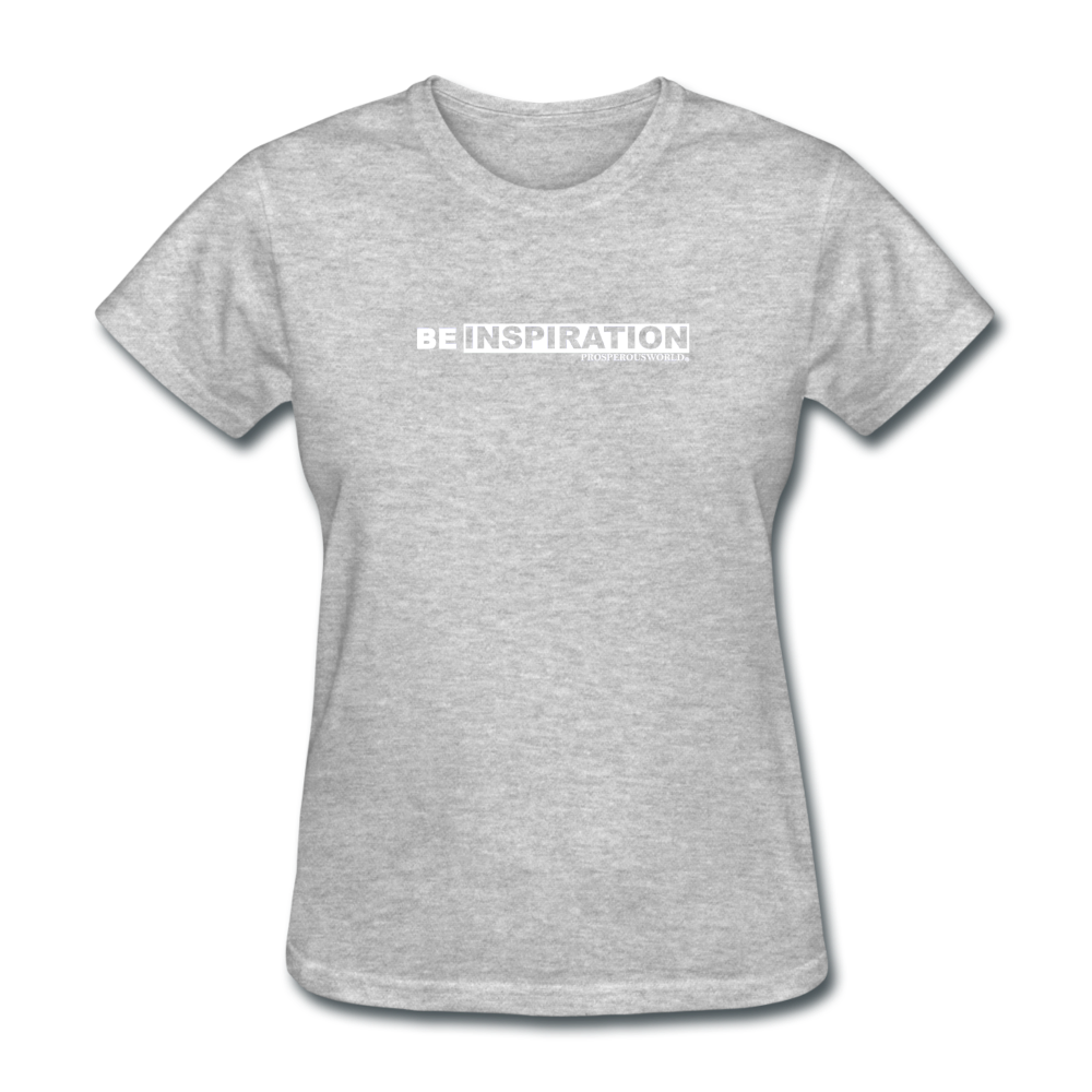 Be Inspiration womens tee - heather gray