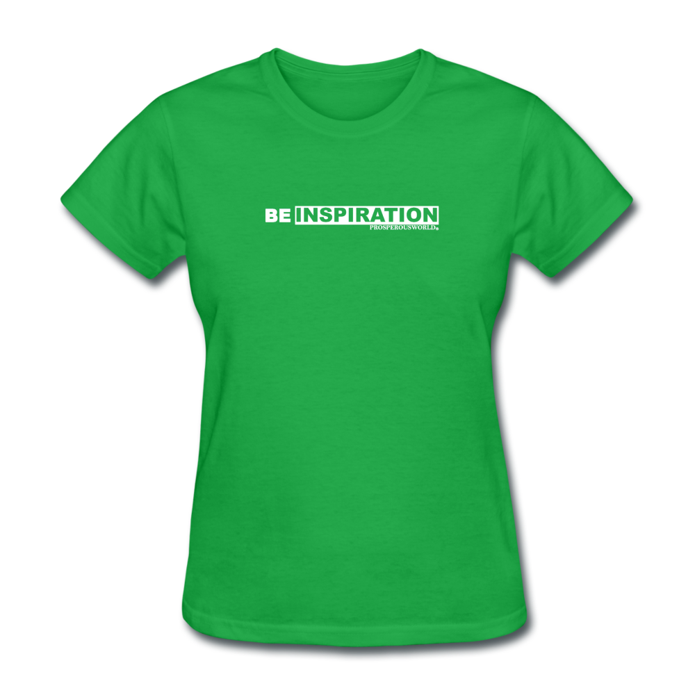 Be Inspiration womens tee - bright green