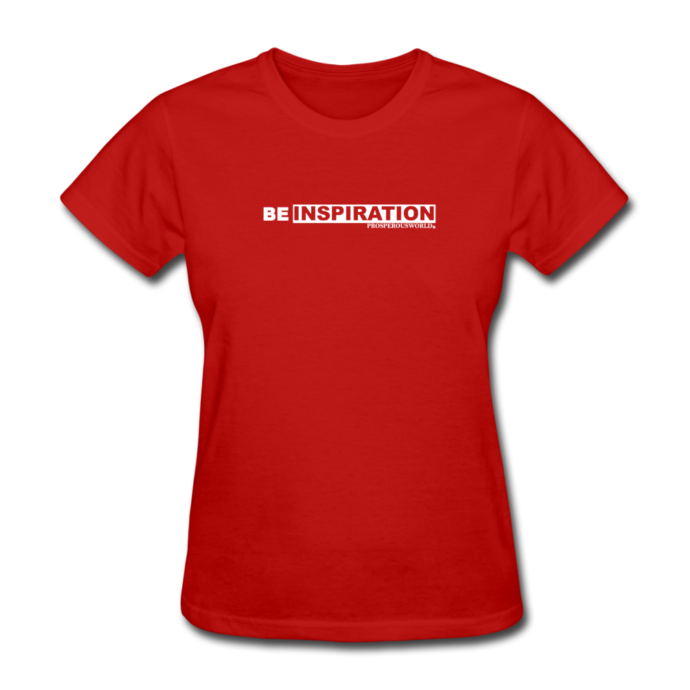 Be Inspiration womens tee - red