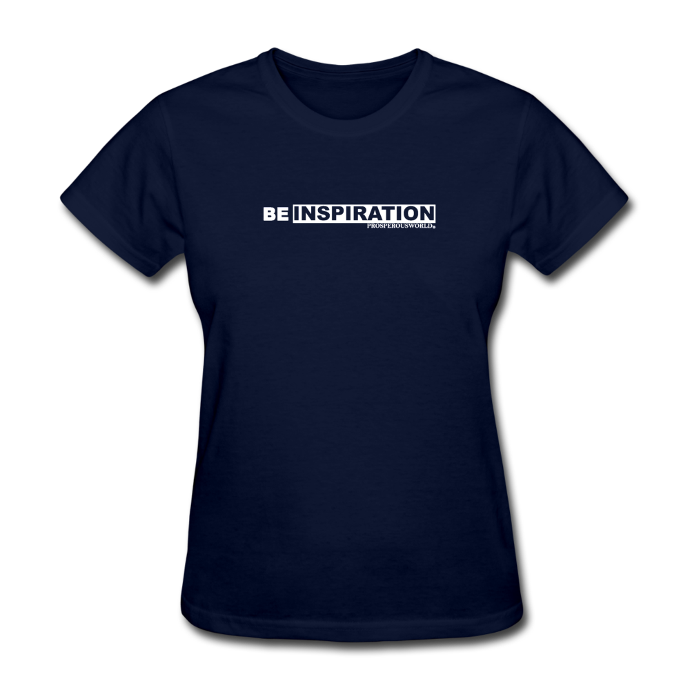 Be Inspiration womens tee - navy