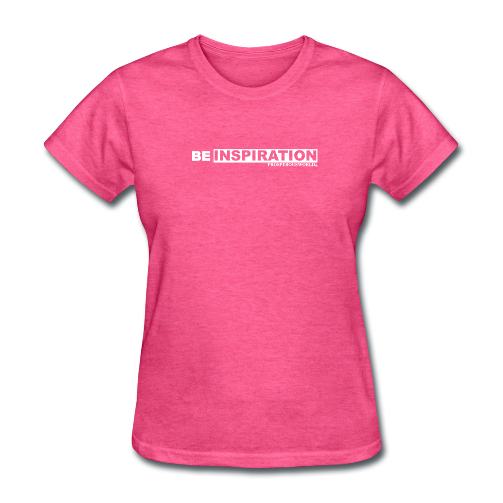 Be Inspiration womens tee - heather pink