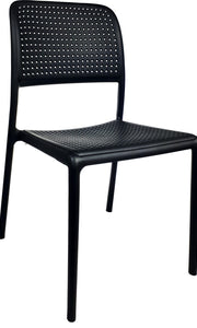 Bora Bistro Plastic Resin Chair Black