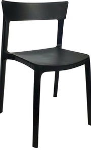 Husk Plastic Resin Chair Black
