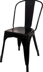 Tolix Replica Cafe Chair Gloss Black