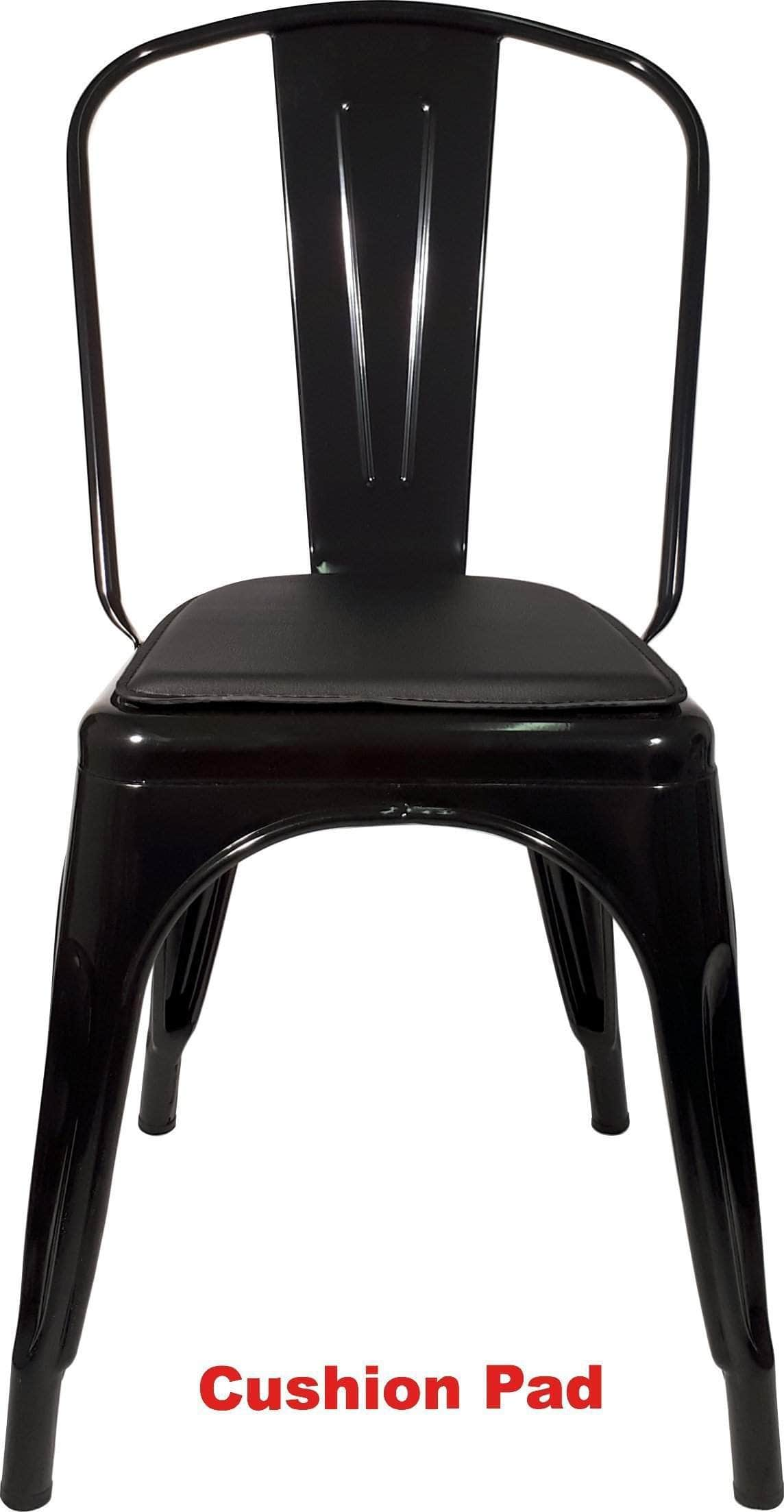 Gloss Black Replica Tolix Cafe Chair High Back  sc 1 st  Directly2U & Gloss Black Replica Tolix Cafe Chair High Back - Buy Online ...