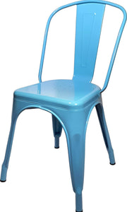 Tolix Replica Cafe Chair Light Blue