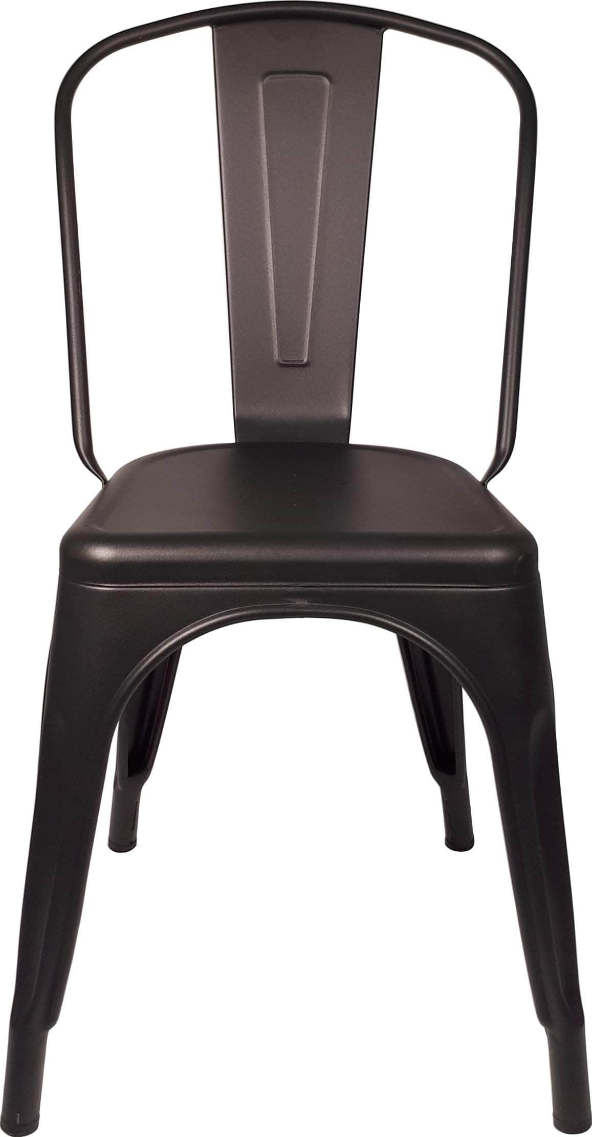 matt black replica tolix cafe chair high back buy online