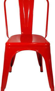 Tolix Replica Cafe Chair Red