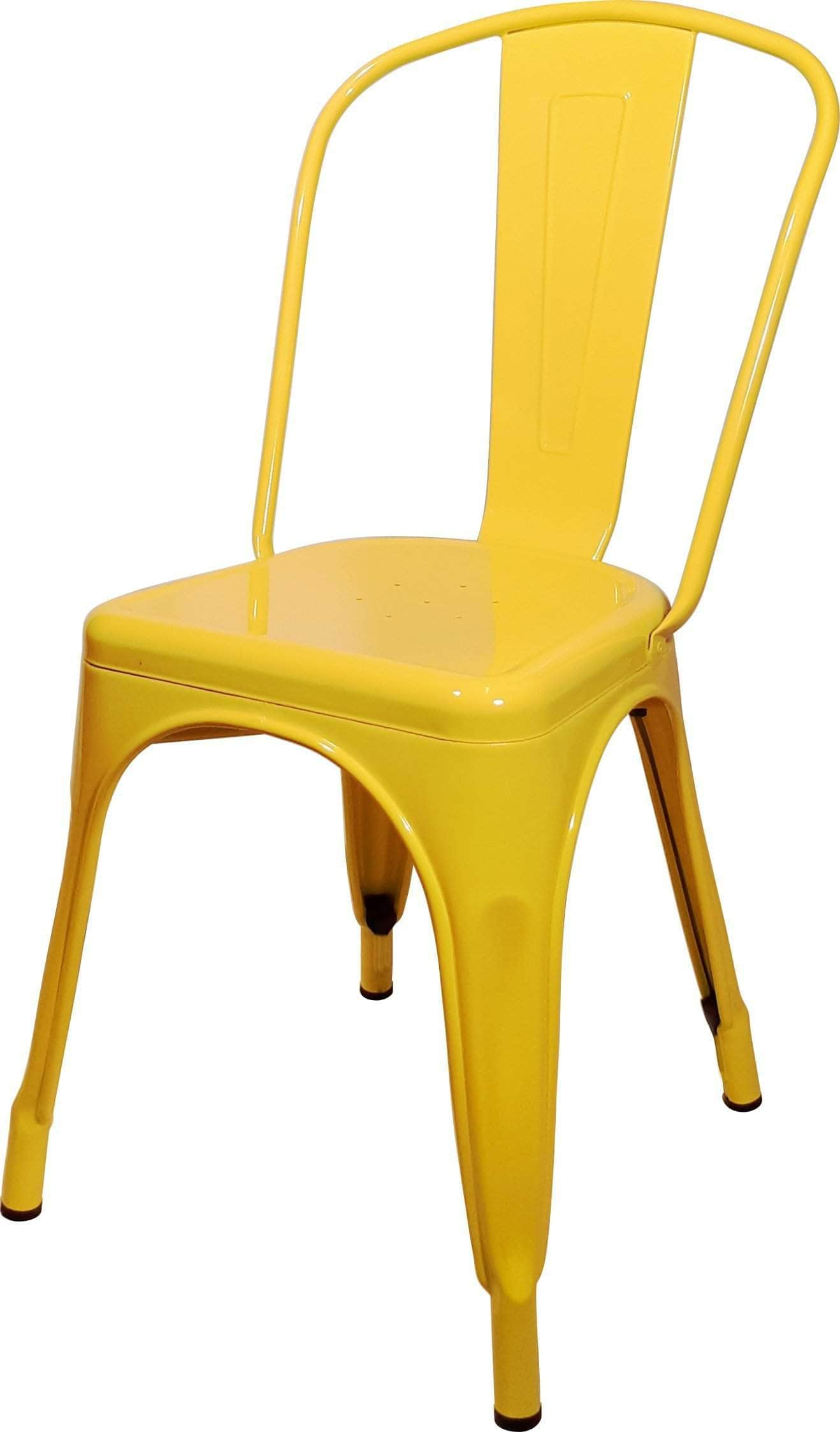 yellow replica tolix cafe chair high back