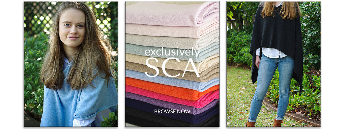Exclusive Cashmere Ponchos, Scarves & Wraps at Scottish Cashmere Australia