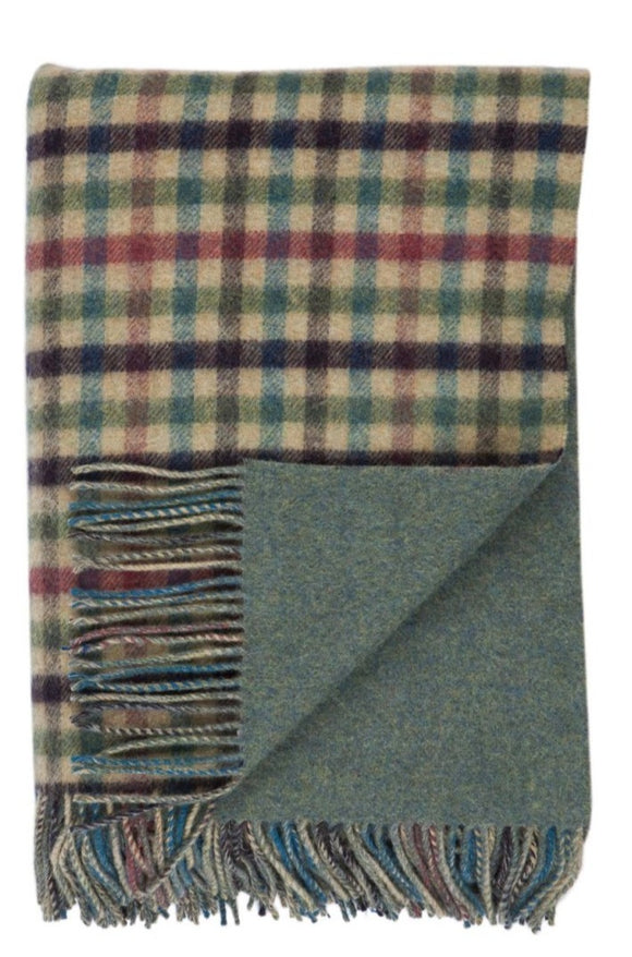 Lambswool Lock Oire Double Face Check Throw